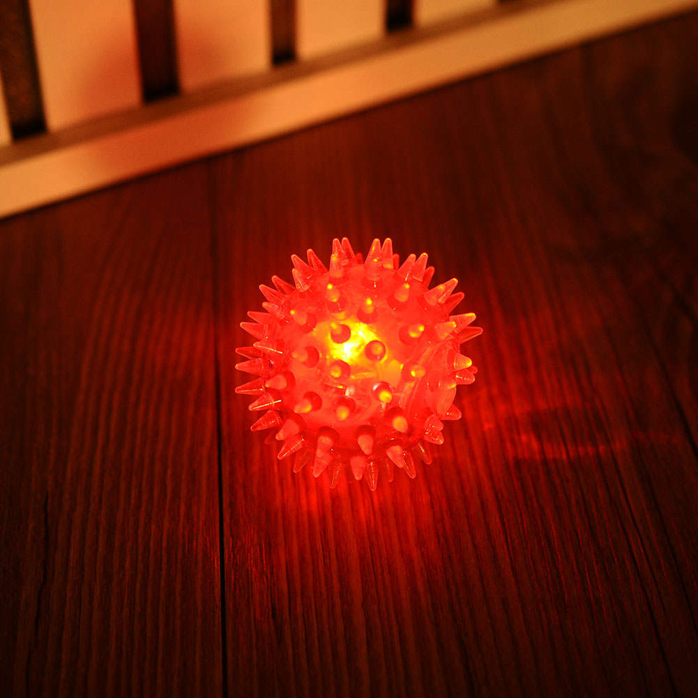 Massage Ball Molar LED Toy Christmas Decoration Puppy Squeaky Elastic Lights Balls Dog Chew Gadget Pet Pet Game