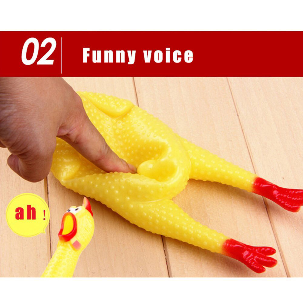 New 42CM Screaming Chicken Squeeze Sound Toy for Large Dogs Pets Shrilling Decompression Tool Funny Gadgets Rubber Pet Dog Toy