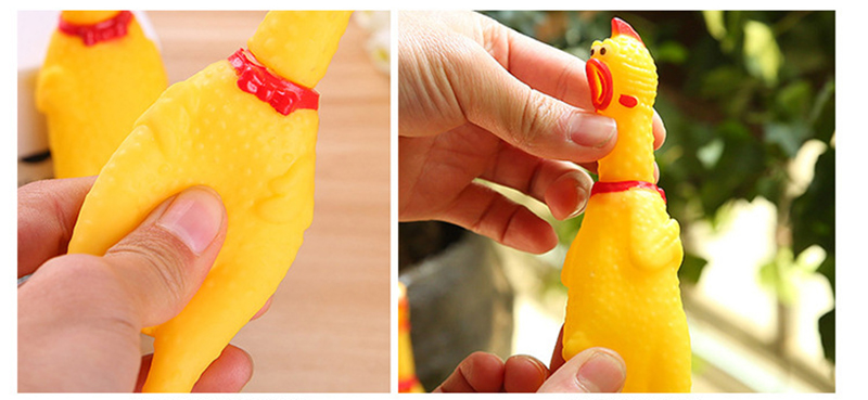 Screaming Chicken Dog Toys Rubber Squeeze Sound Chew Toy Pets Product Dog Toys Shrilling Decompression Tool Funny Gadgets