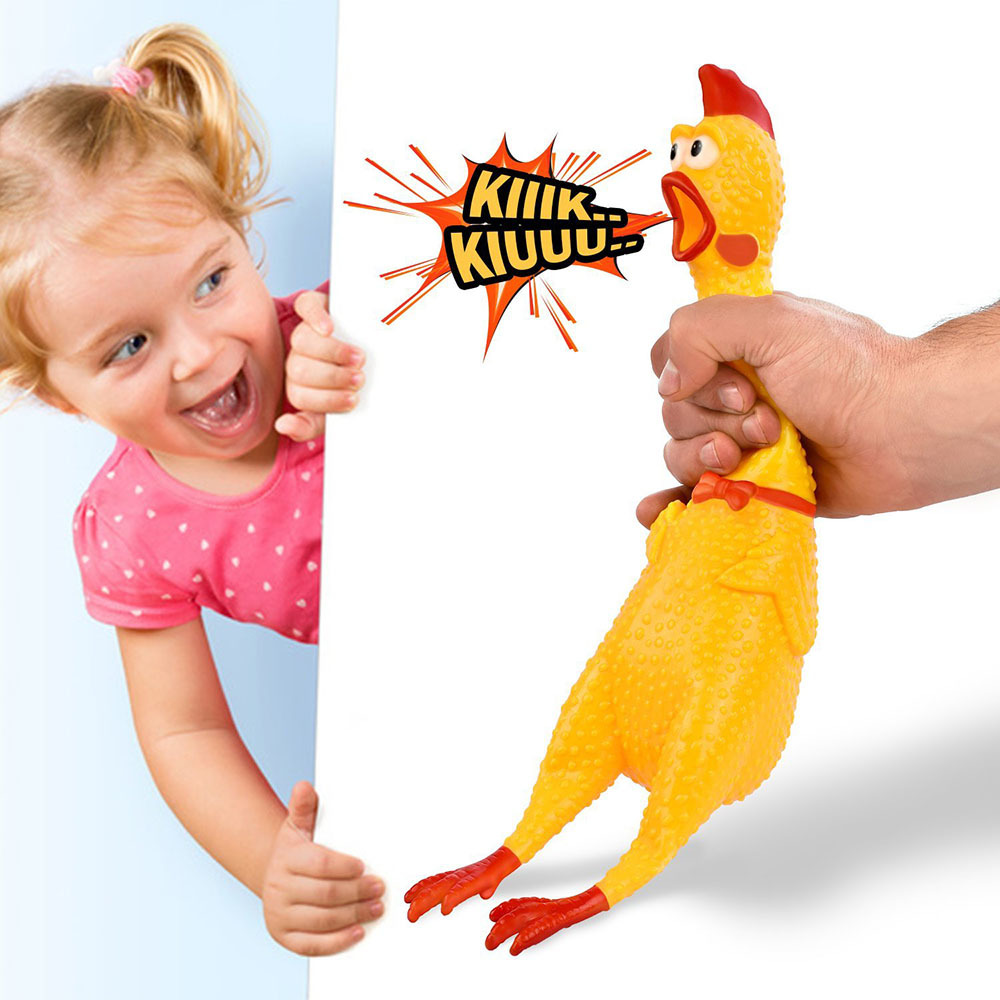 17CM 33CM Screaming Chicken Squeeze Sound Toy Pets Toy Product Dog Toys Shrilling Decompression Tool Funny Gadgets