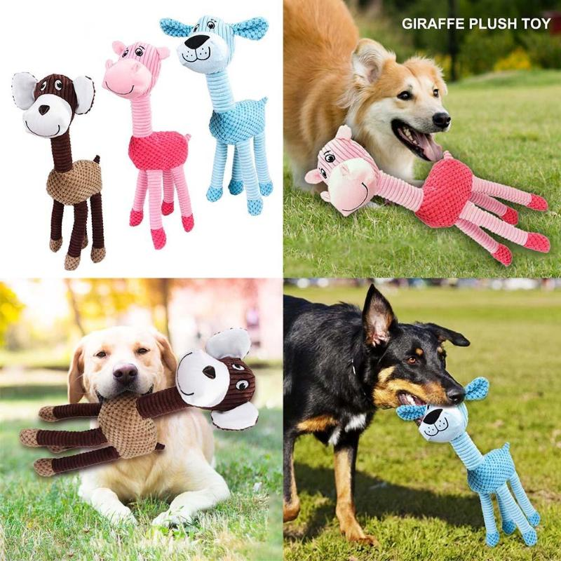 1pc Plush Pet Squeaky Chew Interactive for Dog Cat Sound Toys Pets Supplies Necessary Household Pet Decompression Gadgets