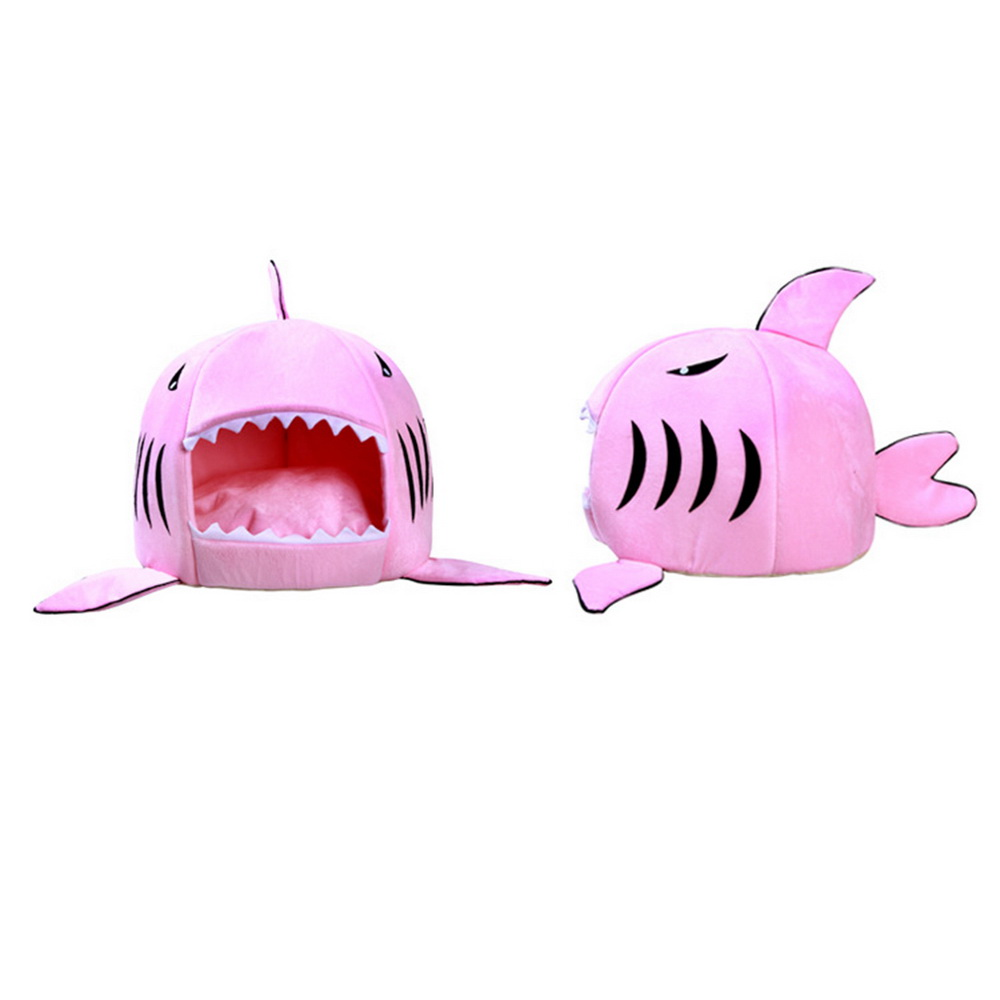 Hoomall Cute Shark Pattern Dog Bed & Mats Soft Warm Cloth & Oxford Beds House For Teddy Dogs Cats Kitten Puppy Dog Gadgets