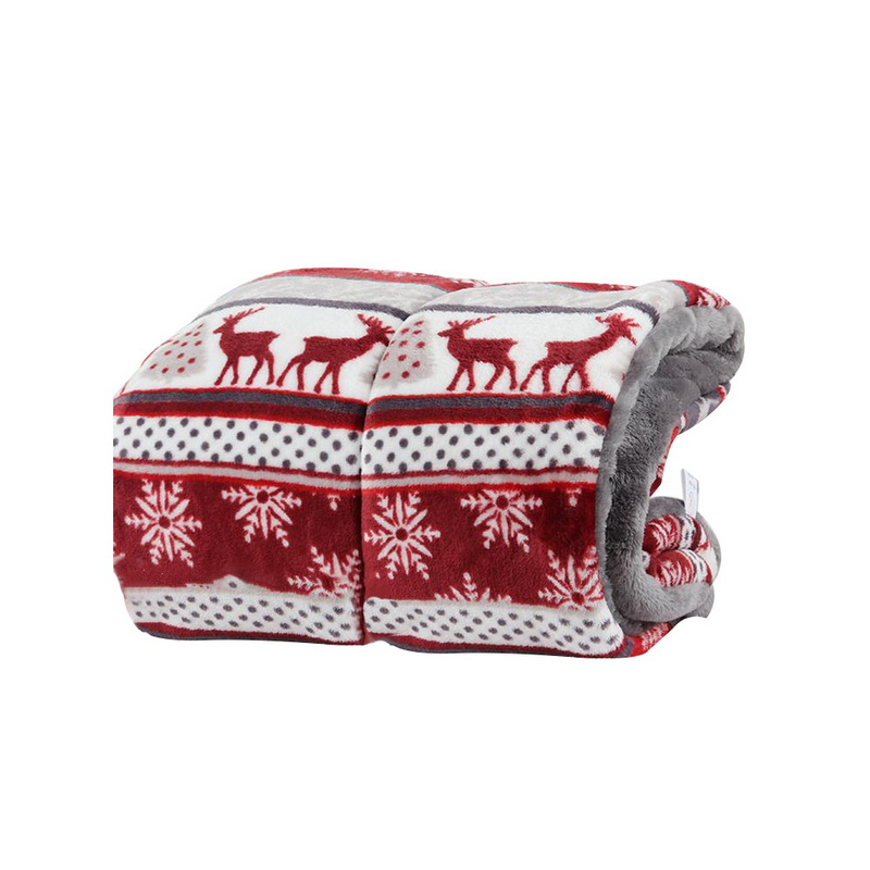 Hoomall Dog Mat Beds Warm Soft Coral Fleece Blanket For Dog Cats Pet Red Mats Beds Printed Snowflake Pet Dog Gadgets