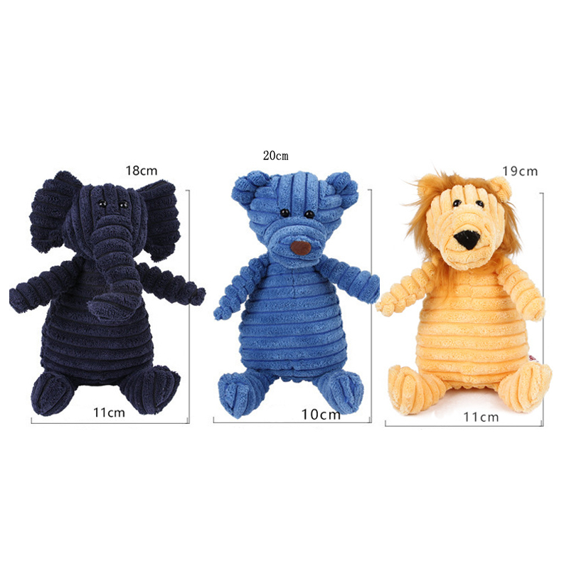 Cute Pets Puppy Dog Toy Pet Chew Training Supplies 1Pcs 19*10CM Corduroy Sound Squeaky Toy Plush Toys Funny Gadgets