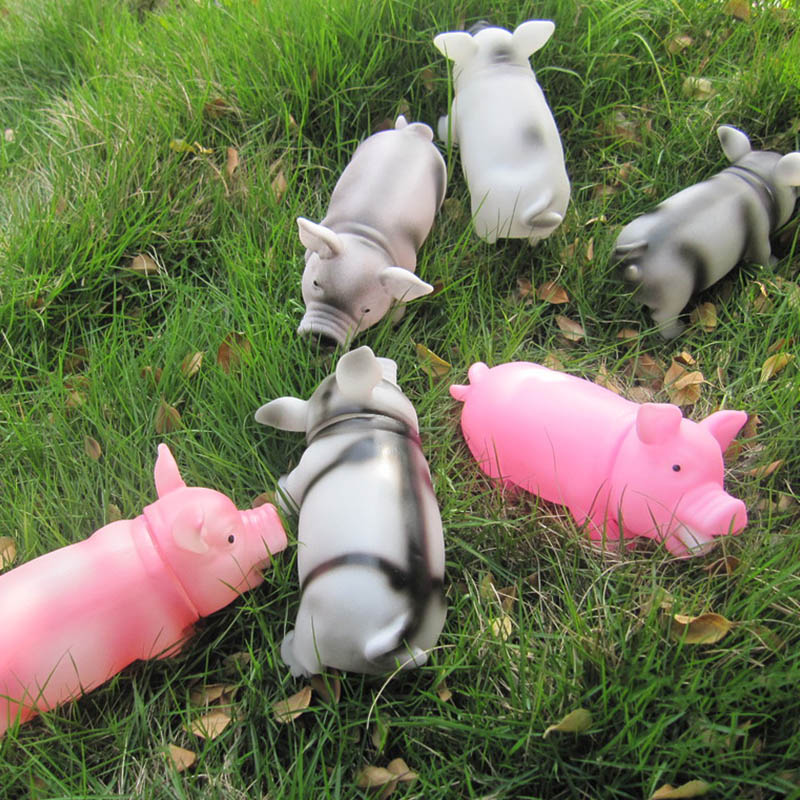 1Pcs Pet Products Funny Gadgets Soft Plastic Dog Toy Cute Pig Grunting Squeak Shrilling Pig Pet Chew Toys