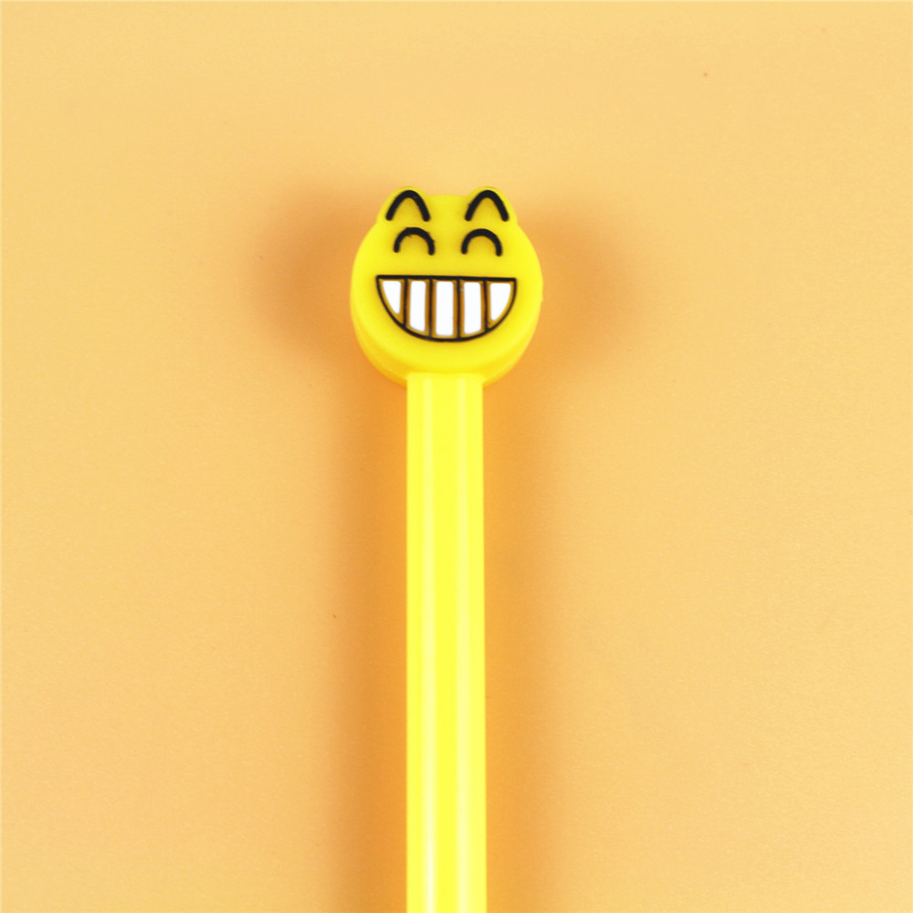 Creative stationery cute expression gel pen creative cartoon smile  0.5mm black refill student supplies