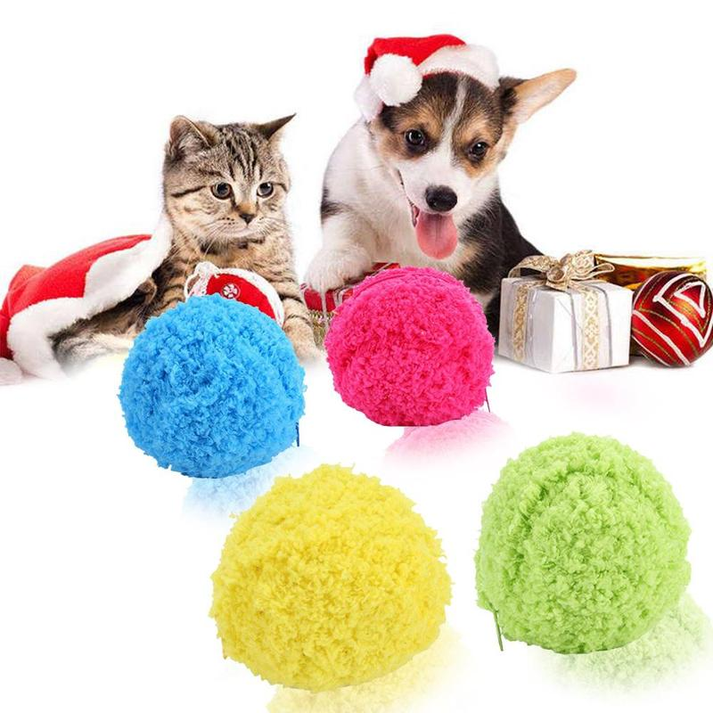 Pet Activation Ball Plush Toys Floor Clean Kitty Puppy Pet Dog Toy Chew Gadget E5P9