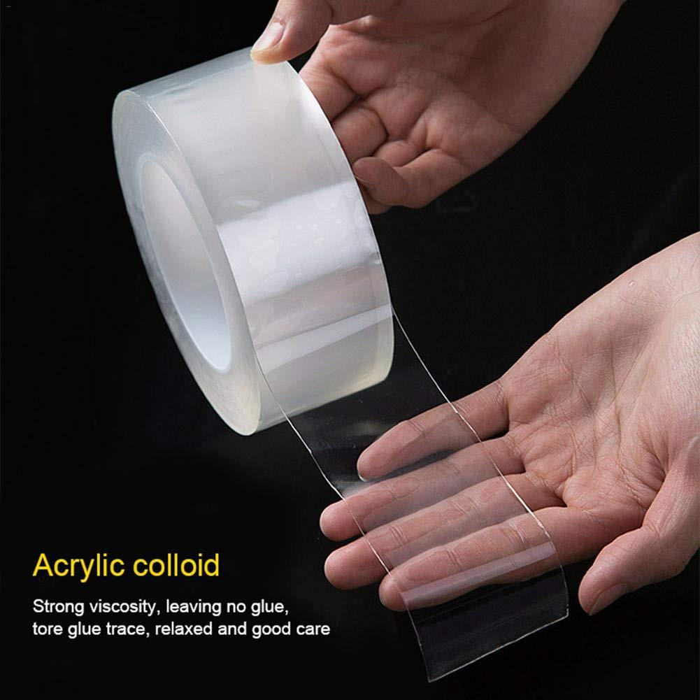 Transparent Tape Washable Reusable Double-Sided Tape Adhesive Paste Removable No Trace Glue Cleanable Kitchen Cleaning Gadgets