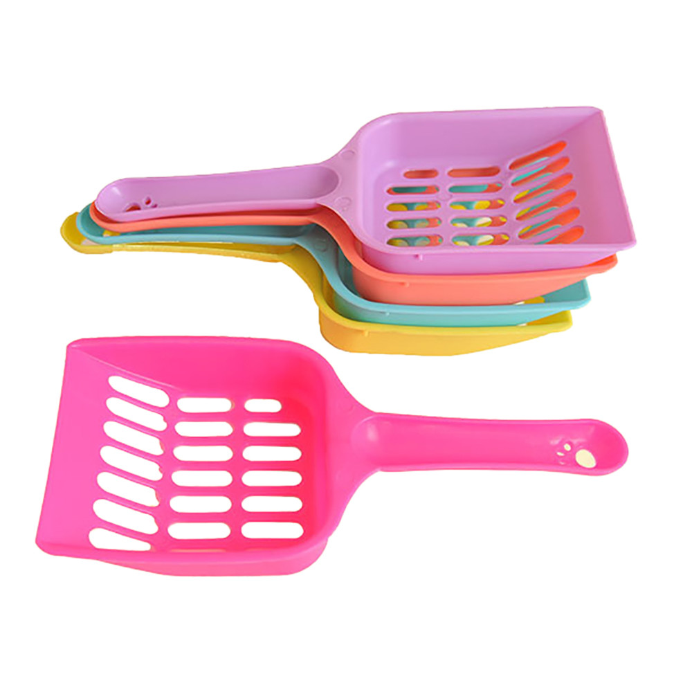 Useful Cat Litter Shovel Pet Cleanning Tool Plastic Scoop Cat Sand Cleaning Products Toilet For Dog Food Animal Spoons Gadget