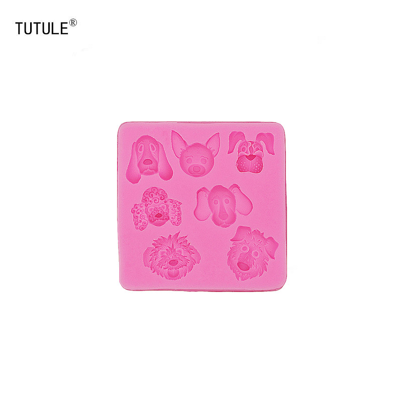 Gadgets - Dog Head Silicone Rubber Flexible Food Safe Mould- clay resin ceramics candy fondant candy chocolate soap Mould