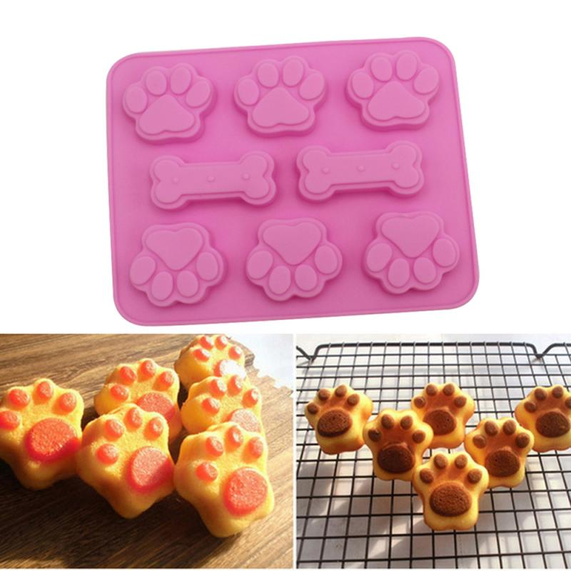 Creative Dog Bone Baking Mold Food Grade Silicone Material Mould Baking Tools Food Grade Kitchen Tool Kitchen Gadgets Hot Sale