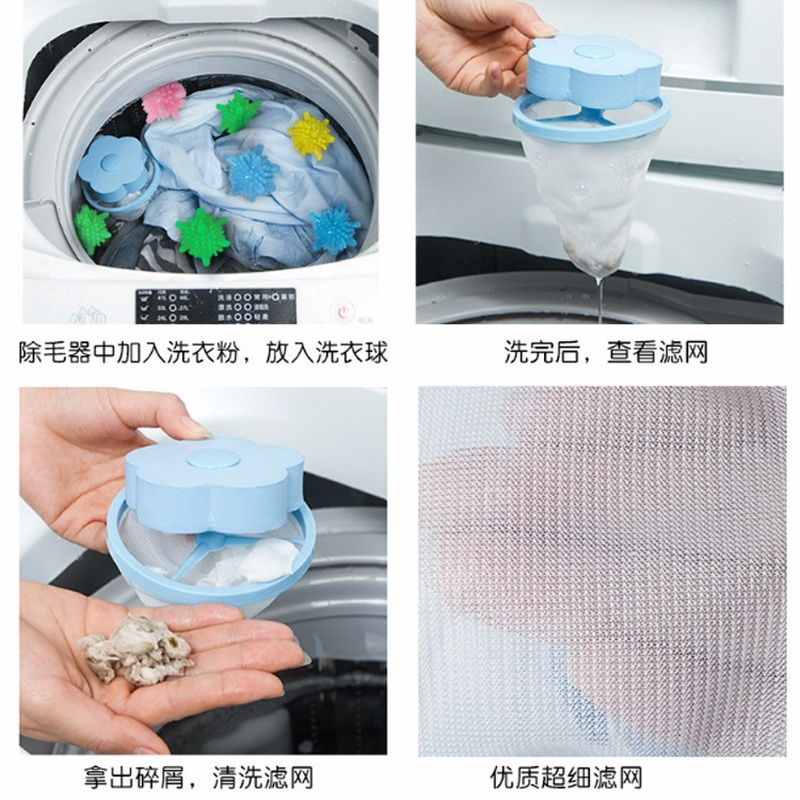 Laundry Ball Household Home  Pet Fur Catcher Reusable Laundry Accessories Hair& Lint Remover Dryer Balls Cleaning
